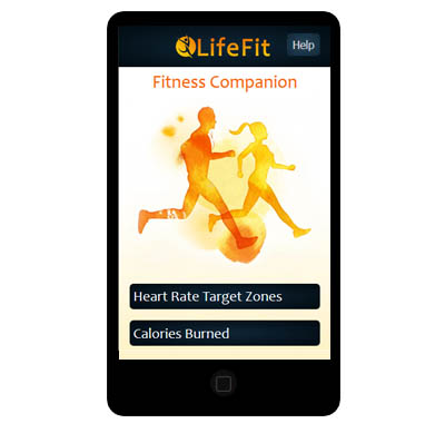 LifeFit App for calculating target heart rate and calories burned is designed for mobile phones but look great on all screen size